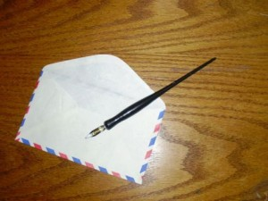 handwritten envelopes