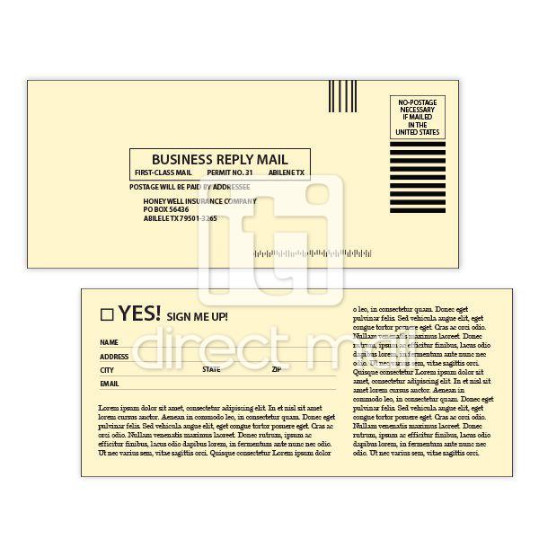 Digitally Printed Buck Slips Iti Direct Mail