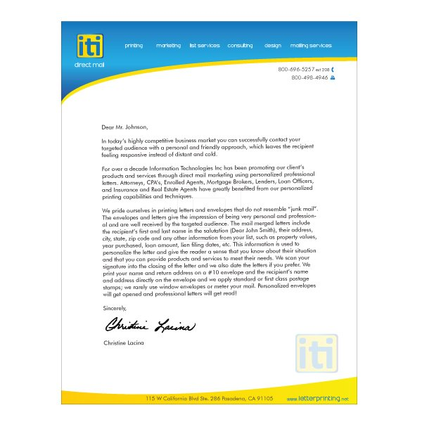 Letterhead design business iti direct mail letterhead design template based accmission