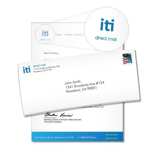 simple stationary design iti direct mail