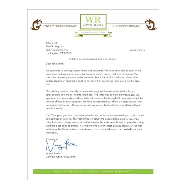 Letterhead Design Template Based Iti Direct Mail